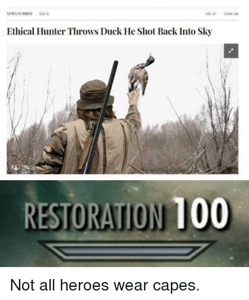 Anaconda, Duck, and Heroes: Ethical Hunter Throws Duck He Shot Back Into Sky  RESTORATION 100 Not all heroes wear capes.