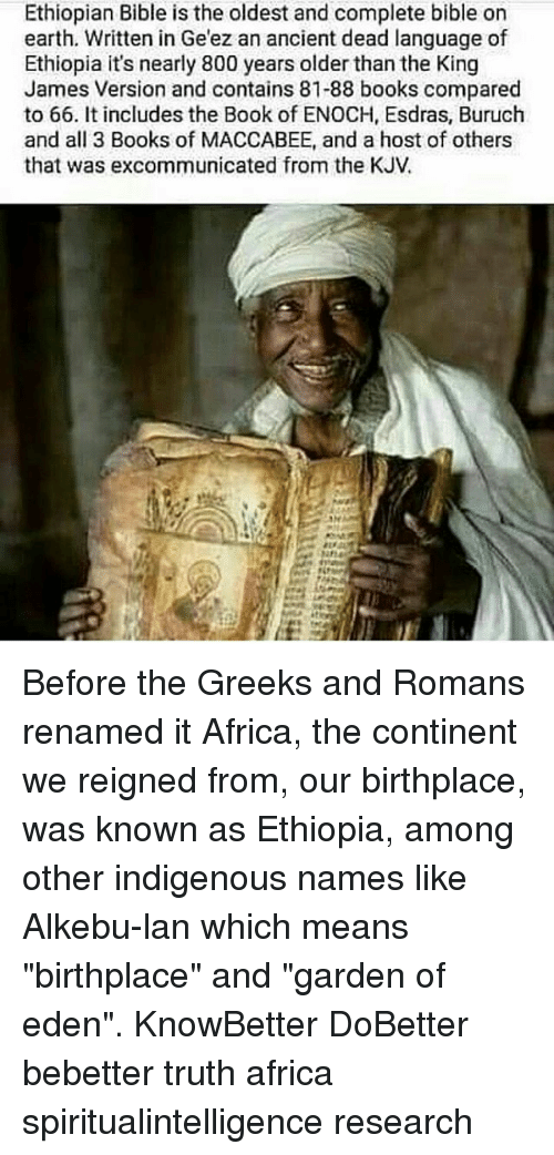 Ethiopian Bible Is the Oldest and Complete Bible on Earth Written in