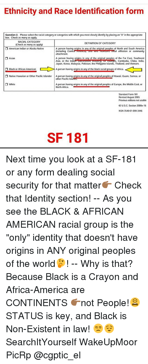Ethnicity And Race Identification Form Question 2 Please Select The