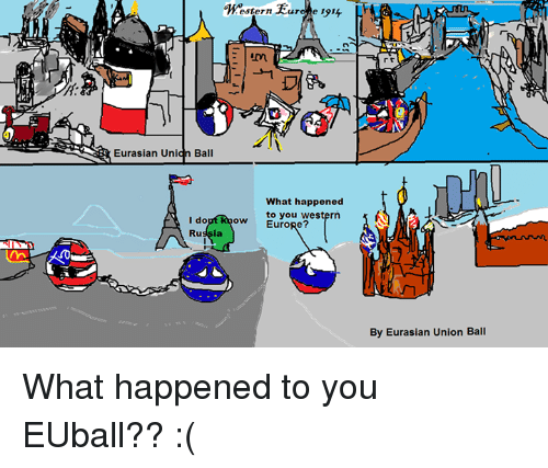 Euro Western And Eurasian Unionball Un Ball I Do Ru Rura