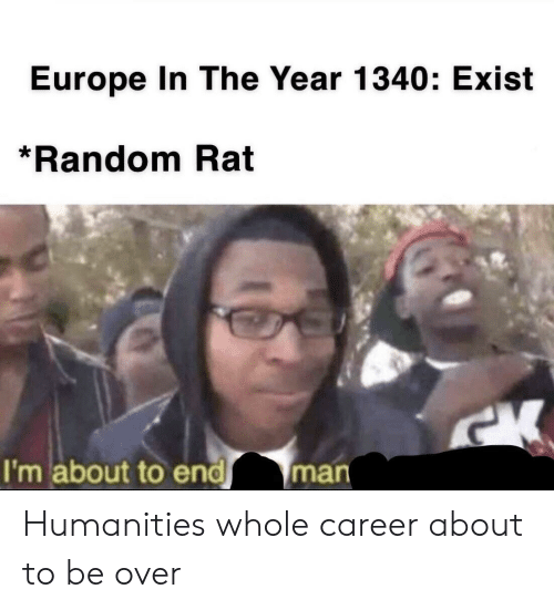 Europe, Random, and Rat: Europe In The Year 1340: Exist  *Random Rat  I'm about to endman Humanities whole career about to be over
