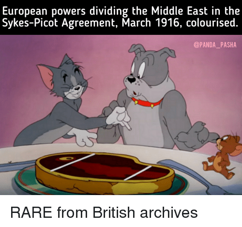 European Powers Dividing The Middle East In The Sykes Picot