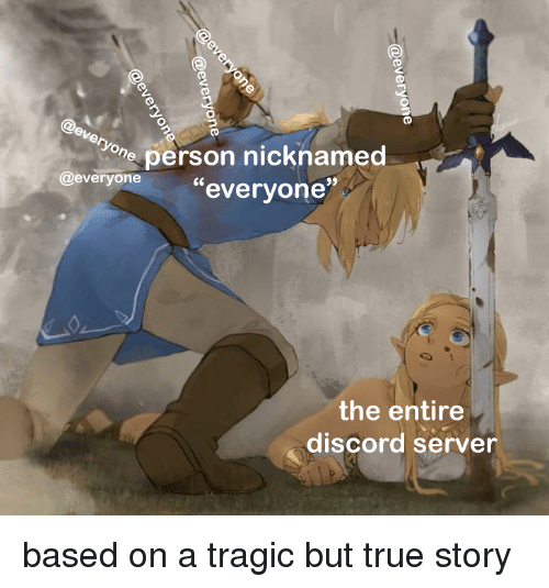 Ev on Person Nicknamed Everyone the Entire Discord Server