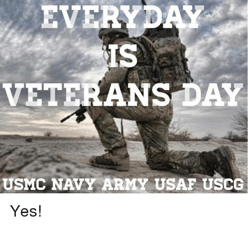 EVE IS VETERANS DAY USMC NAVY ARMY USAF USCG Yes! | Meme on ME ME