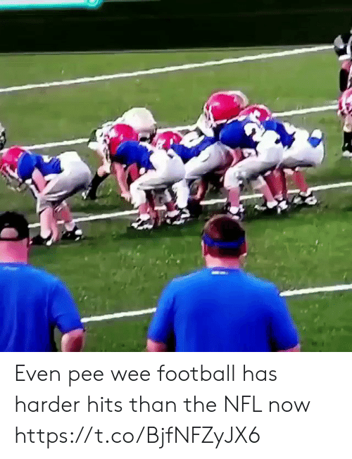 Sizzle: Even pee wee football has harder hits than the NFL now https://t.co/BjfNFZyJX6
