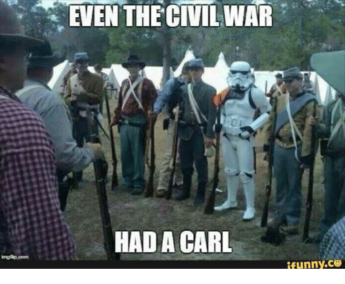 Funny, Civil War, and Military: EVEN THE CIVIL WAR  HAD A CARL  funny. CO