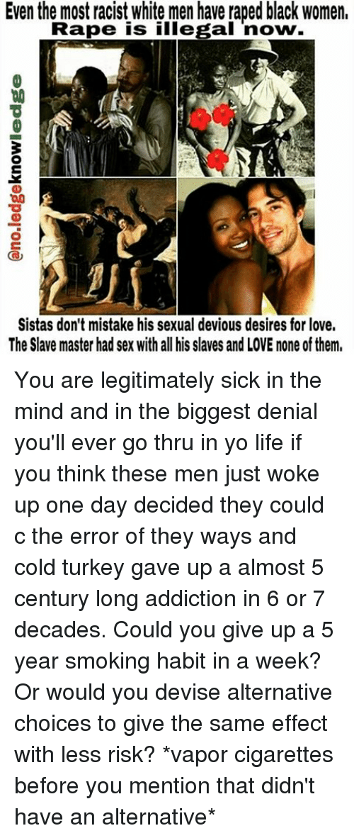White women sex black men slavery