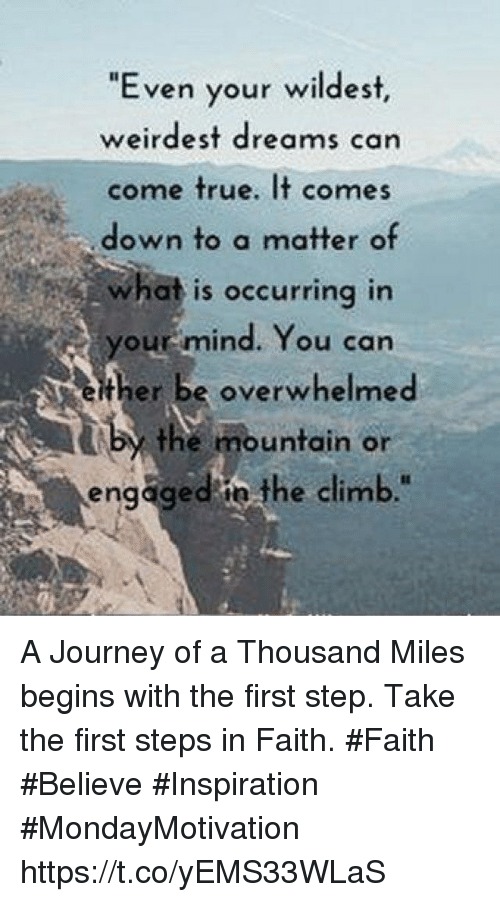 A Journey Of A Thousand Miles Begins