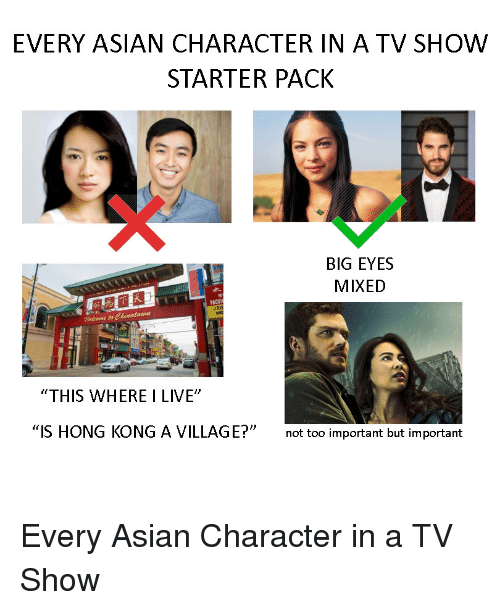 Every Asian Character In A Tv Show Starter Pack Big Eyes Mixed Dr