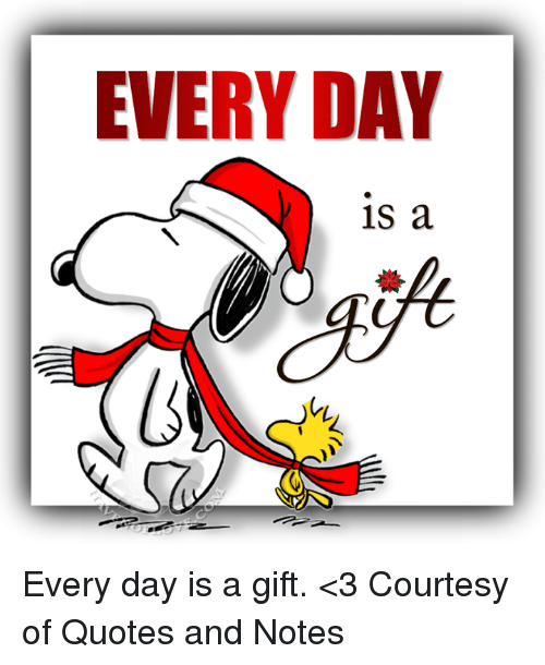 Every Day Is A Every Day Is A Gift 3 Courtesy Of Quotes And Notes