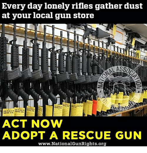 Every Day Lonely Rifles Gather Dust At Your Local Gun Store Mensen