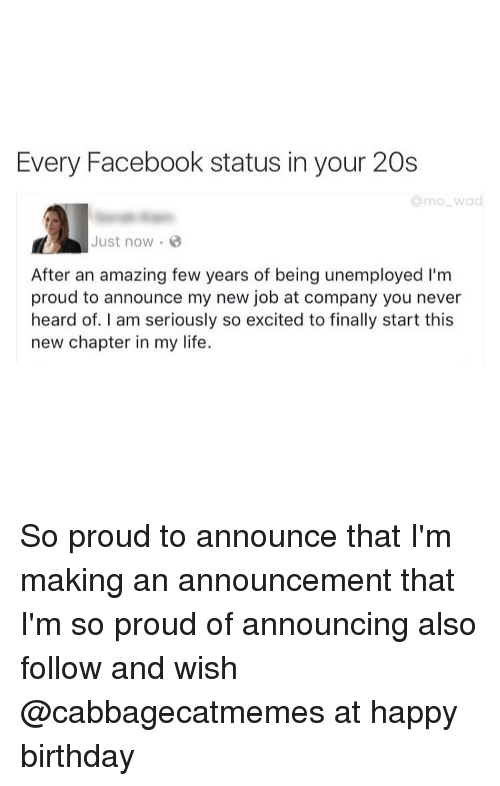 Every Facebook Status in Your 20s Amo Wad Just Now After an Amazing ...