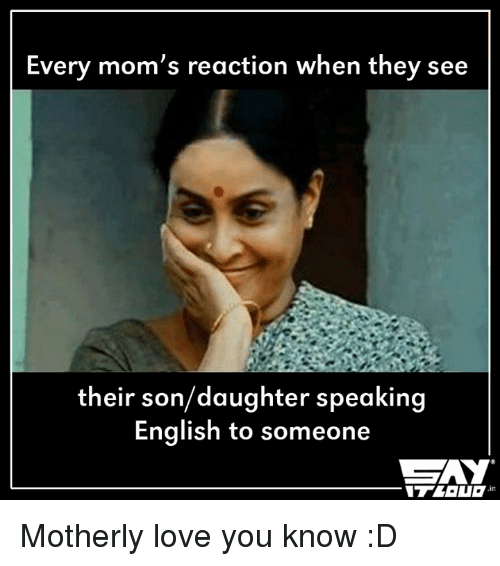 Every Mom's Reaction When They See Their Sondaughter