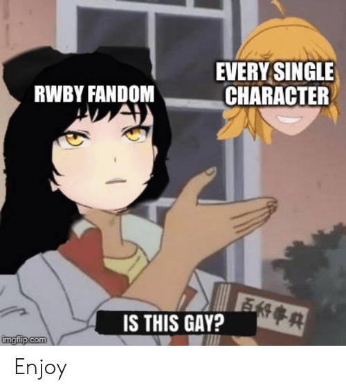 EVERY SINGLE CHARACTER RWBY FANDOM IS THIS GAY? Imgfipcom