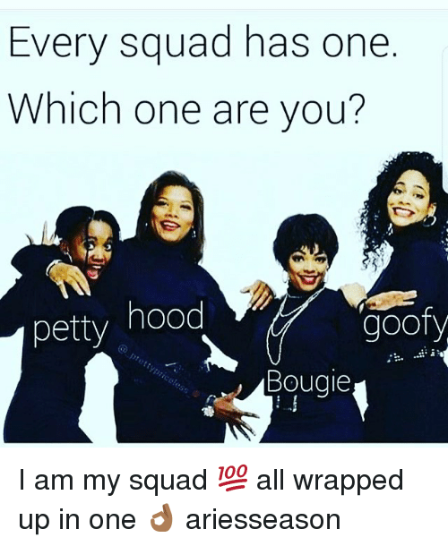 Every Squad Has One Which One Are You? Petty Hood Goofy