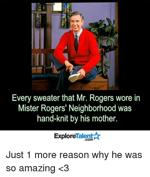 Every Sweater That Mr Rogers Wore in Mister Rogers' Neighborhood Was
