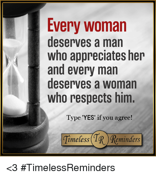 when a man appreciates a woman