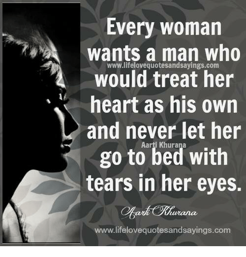 A real man never lets his woman go to sleep