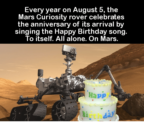 Every Year On August 5 The Mars Curiosity Rover Celebrates The