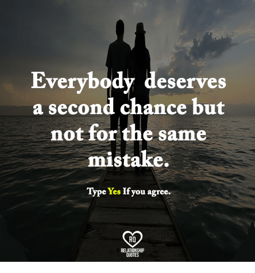 Everybody Deserves a Second Chance but Not for the Same