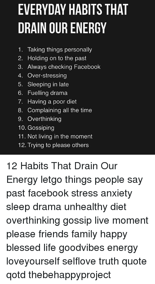 Clean out all the energy-draining people from your life ... |Energy Draining People