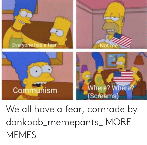 Dank, Memes, and Target: Everyone has a fear  Not  Where? Where?  Screams  Communism We all have a fear, comrade by dankbob_memepants_ MORE MEMES