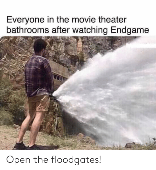 Everyone in the Movie Theater Bathrooms After Watching Endgame Open
