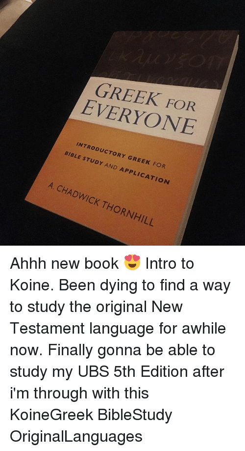 EVERYONE INTRODUCTORY BIBLE GREEK FOR STUDY AND APPLICATION