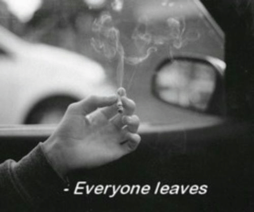 Leaves and Everyone: - Everyone leaves