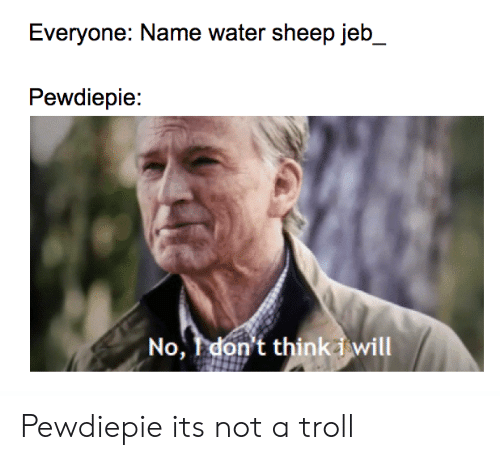 Everyone Name Water Sheep Jeb Pewdiepie No I Don't Thinki Will