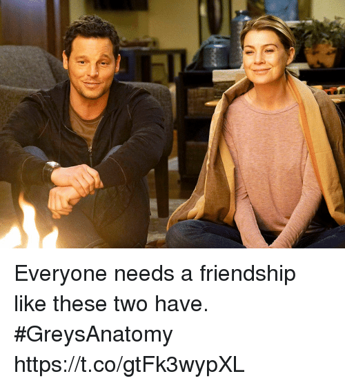 Memes, Friendship, and 🤖: Everyone needs a friendship like these two have. #GreysAnatomy https://t.co/gtFk3wypXL