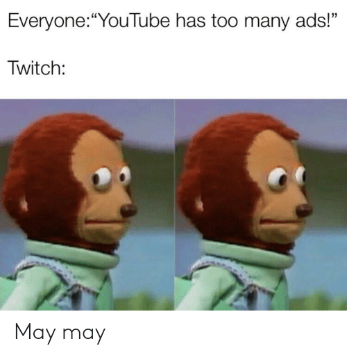 EveryoneYouTube Has Too Many Ads! Twitch May May   Reddit