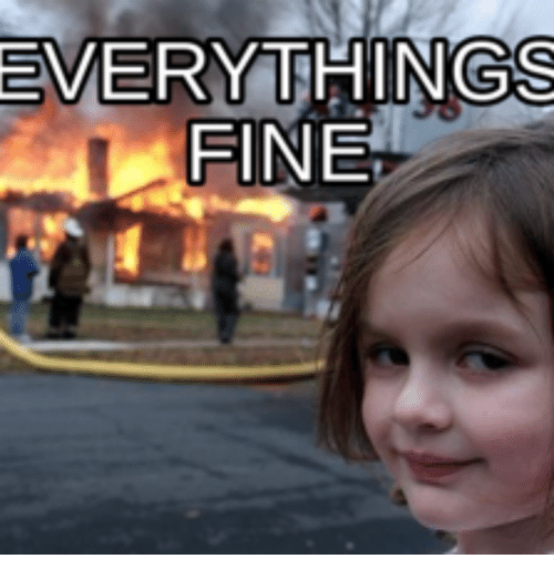 EVERYTHING FINE   Everythings Fine Meme on ME.ME