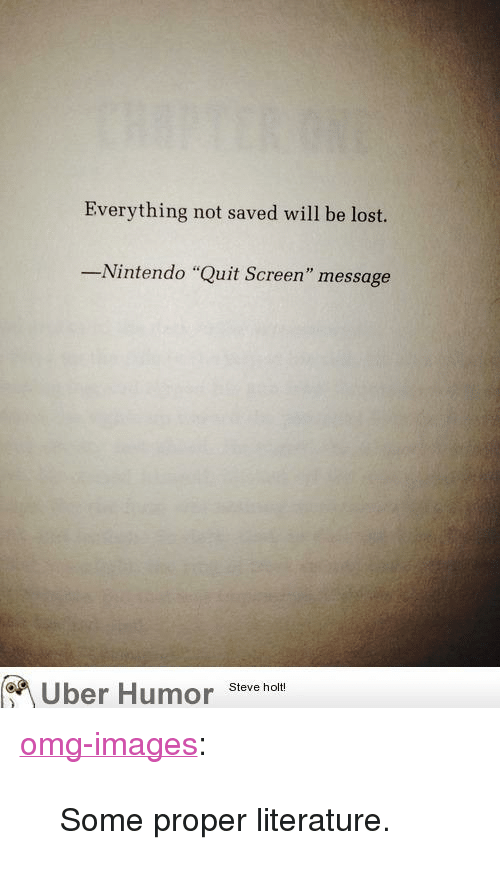 Everything Not Saved Will Be Lost Nintendo Quit Screen Message Uber