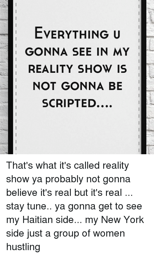 what reality shows are real