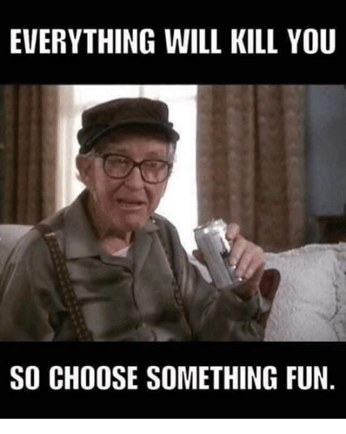 everything will kill you so choose something fun meme on