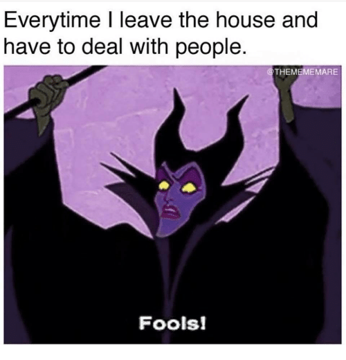 House, The House, and People: Everytime l leave the house and  have to deal with people  THEMEMEMARE  Fools