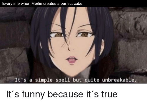 Everytime When Merlin Creates A Perfect Cube Its A Simple Spell But