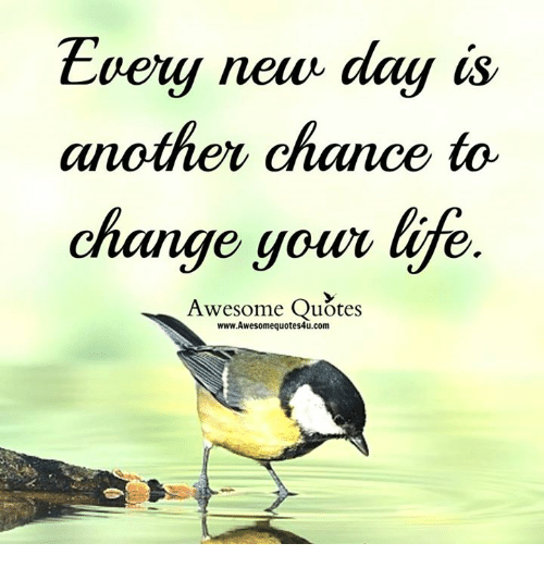 Evey New Day Is Another Chance To Change Your E Awesome Quotes