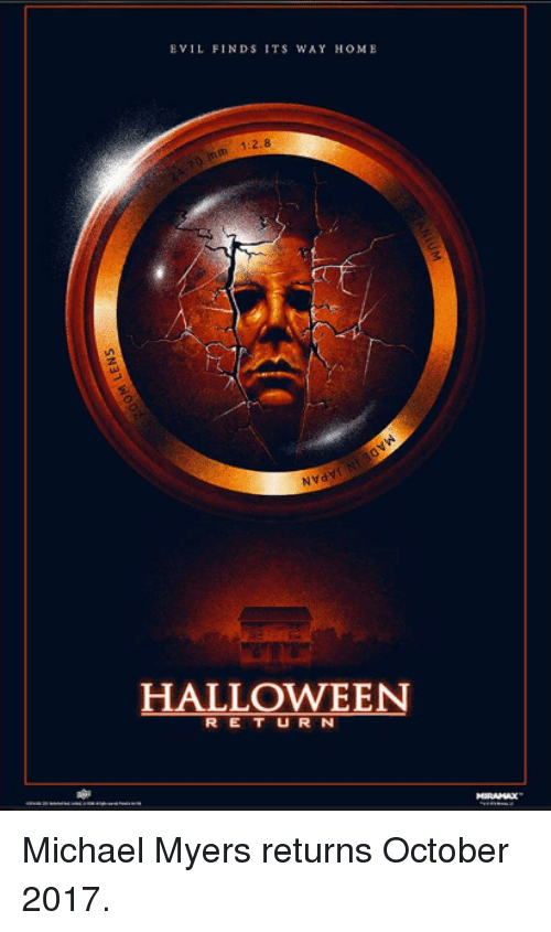 EVIL FINDS ITS WAY HOME HALLOWEEN R E T U R N Michael Myers ...