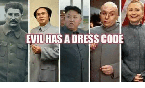 EVIL HAS a DRESS CODE | Meme on me.me