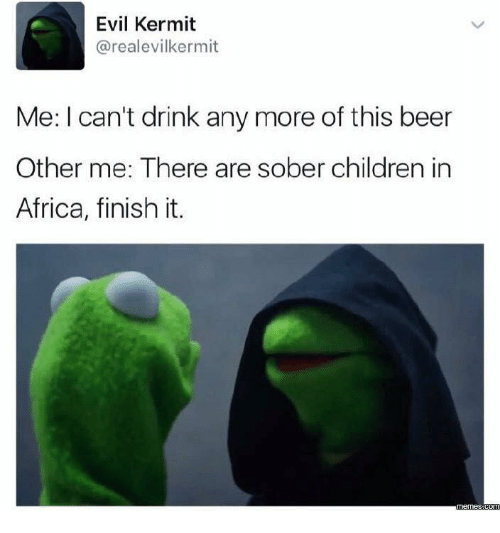 Evil Kermit Arealevilkermit Me I Cant Drink Any More Of This Beer