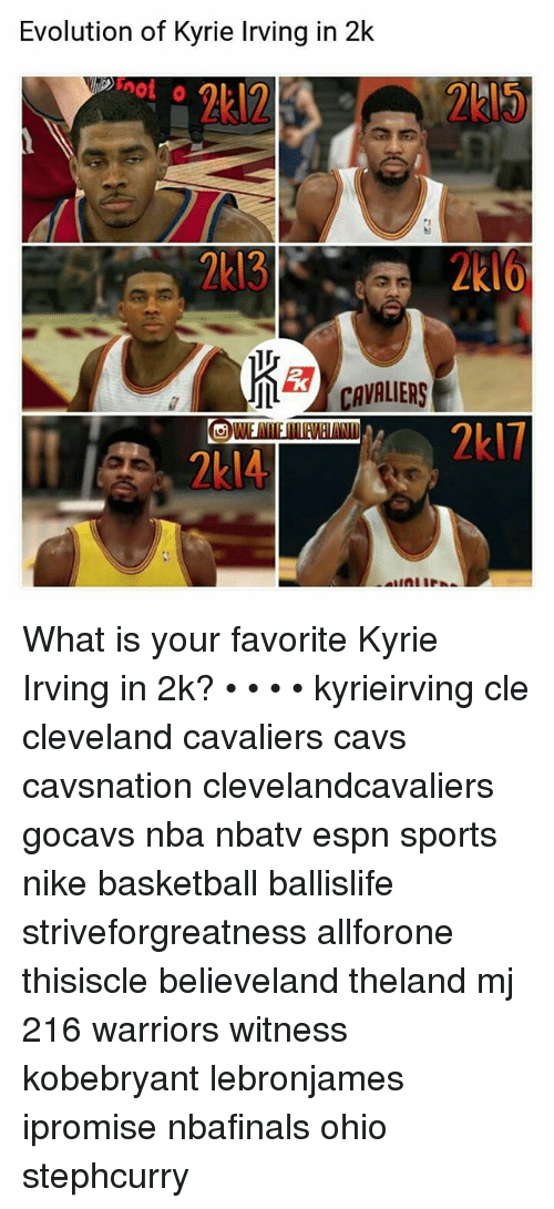 d18fc3cdd953 Evolution of Kyrie Irving in 2k What Is Your Favorite Kyrie Irving ...
