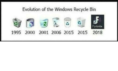 windows evolution and recycle bin evolution of the windows recycle bin fortnite 1995 - fortnite on ubuntu 2018