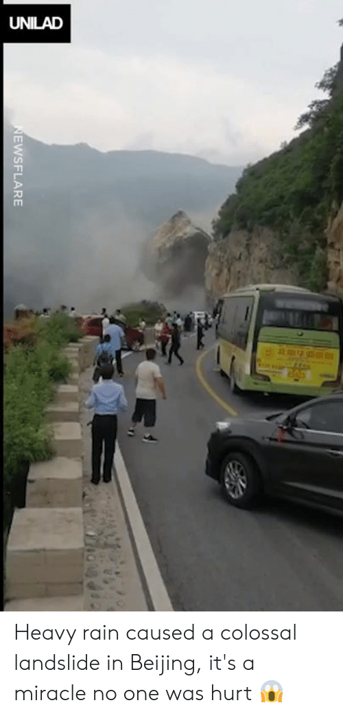 Beijing, Dank, and Rain: EwSFLARE Heavy rain caused a colossal landslide in Beijing, it's a miracle no one was hurt 😱