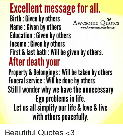 Excellent Message For All Birth Given By Others Awesome Quotes Name