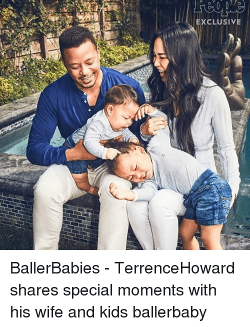 Memes, 🤖, and Specials: EXCLUSIV BallerBabies - TerrenceHoward shares special moments with his wife and kids ballerbaby