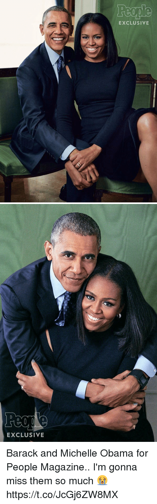 Michelle Obama, Obama, and People Magazine: EXCLUSIVE   EXCLUSIVE Barack and Michelle Obama for People Magazine.. I'm gonna miss them so much 😭 https://t.co/JcGj6ZW8MX