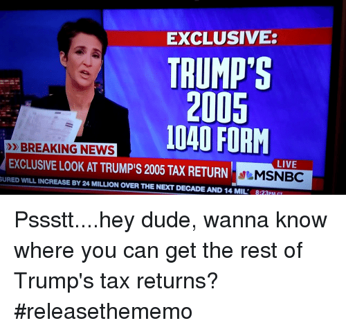 Msnbc Breaking News: 25+ Best Memes About 1040 Form
