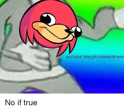 Excuse Meydo U Know De Wae | True Meme on ME ME